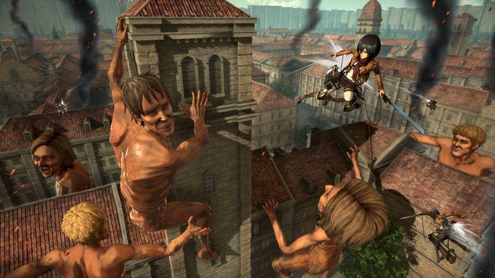 Ação de Titãs em Attack on Titan 2