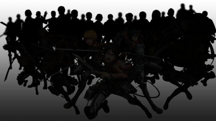 Arte de personagens de Attack on Titan 2