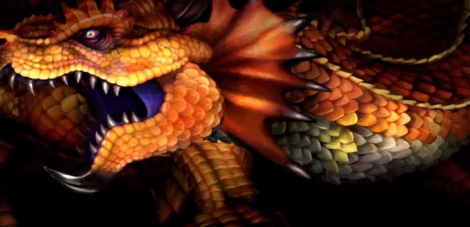 Imagem do dragão de Dragon's Crown.