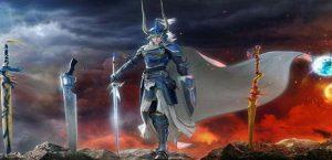 Arte de Warrior of Light para Dissidia Final Fantasy NT