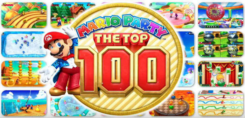 <em>Mario Party: The Top 100</em> chegando para 3DS