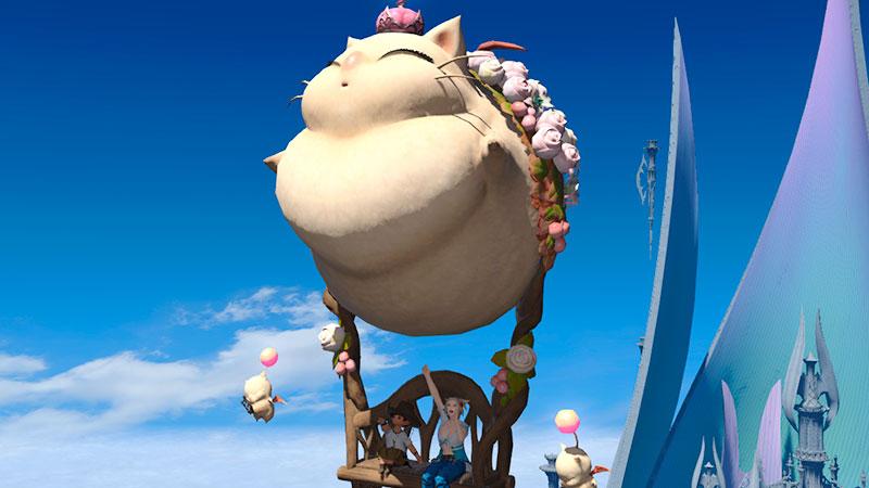 Nova montaria de <em>Final Fantasy XIV</em> é um Moogle gigante e adorável