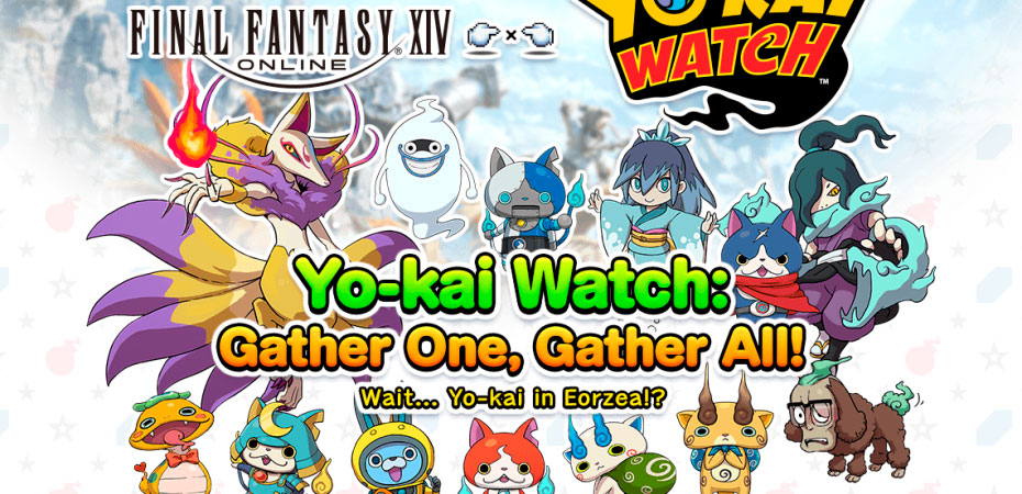 <em>Yo-kai Watch e Final Fantasy XIV</em> se juntam em evento crossover