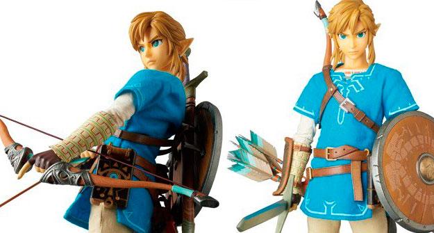 Mais detalhes do figure realista do Link de <em>The Legend of Zelda: Breath of the Wild</em>