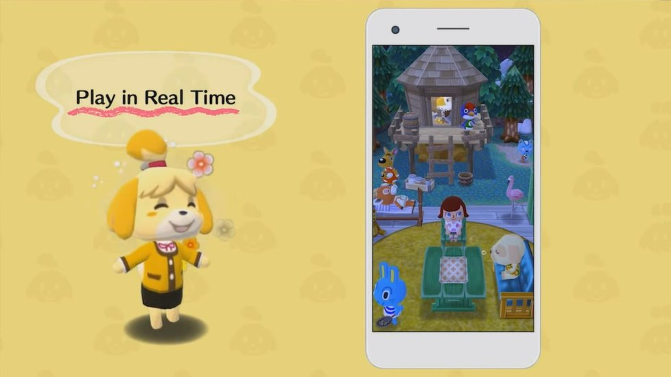 Tempo real em Animal Crossing: Pocket Camp
