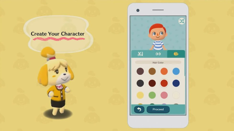 Customização de personagem em Animal Crossing: Pocket Camp