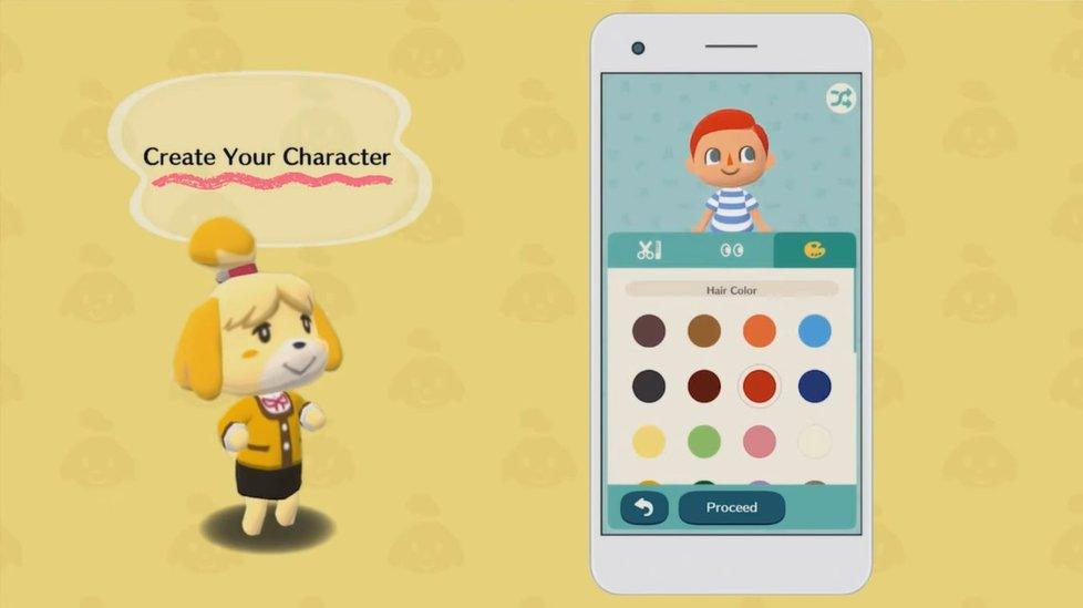 Customização de personagem em Animal Crossing: Pocket Camp