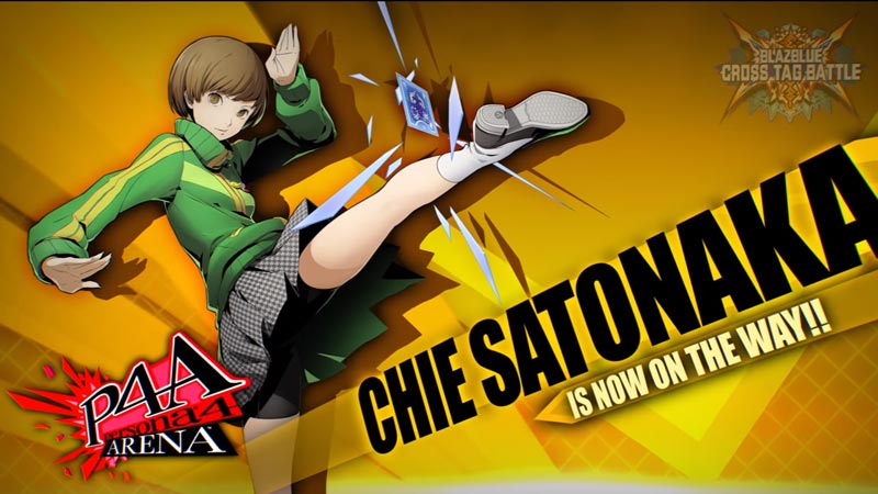 Chie Satonaka em BlazBlue Cross Tag Battle!