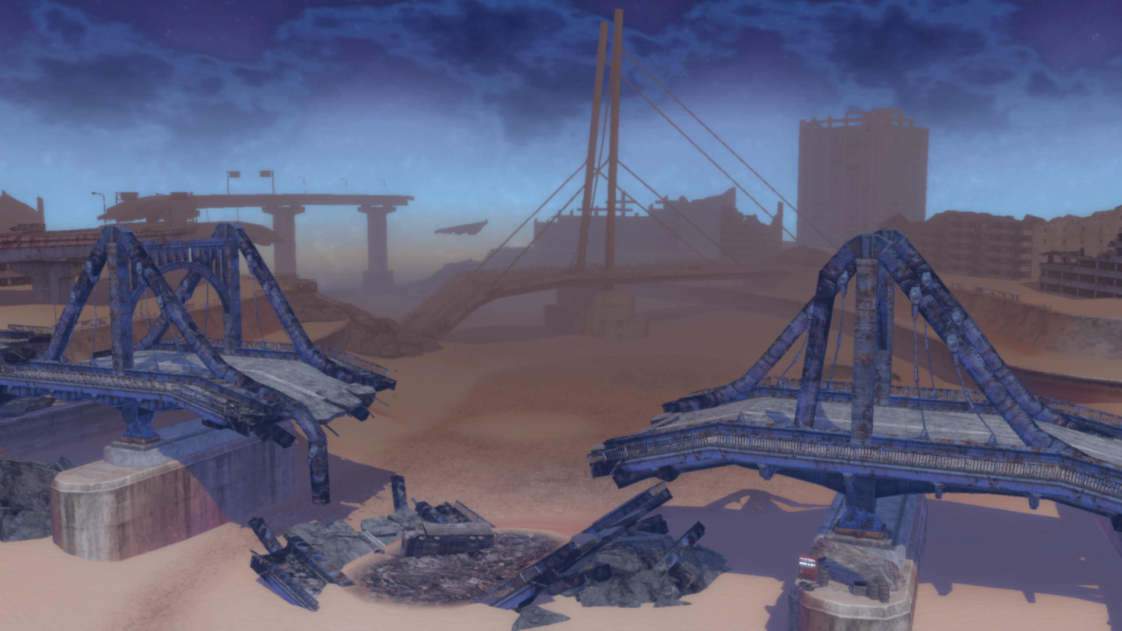 Imagem do cenário de Metal Max Xeno