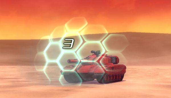 """Tanque sendo protegido por um """"Escudo ET"""" em Metal Max Xeno"""