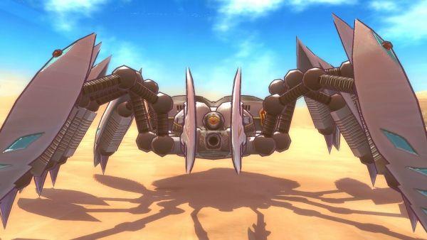 """Um monstro da raça """"SoNS"""" de Metal Max Xeno"""