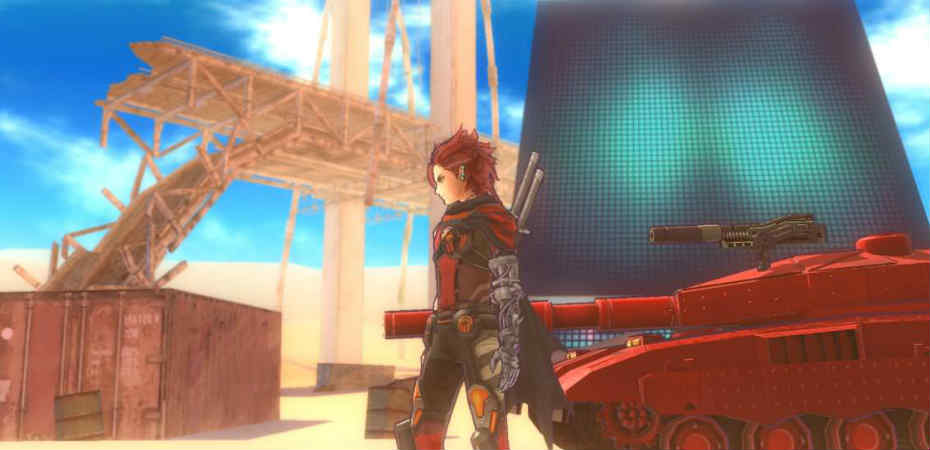 Protagonista de Metal Max Xeno junto de seu Tank