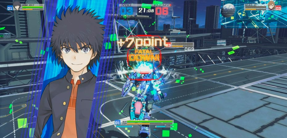Batalha do jogo A Certain Magical Virtual-On.