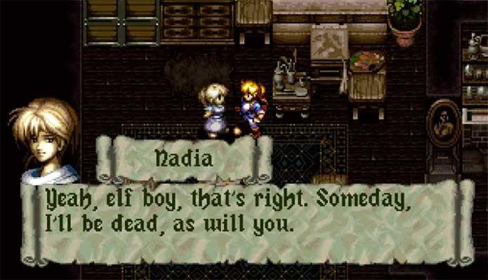 Nadia conversa com Alundra