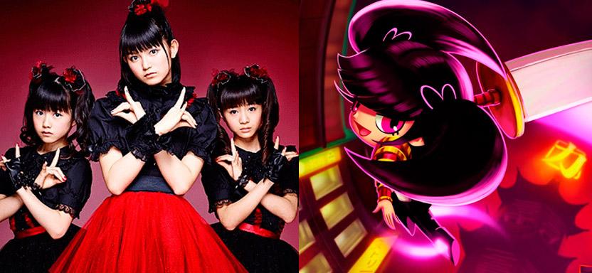 Baby Metal e Kim, protagonista do jogo Keen da Cat Nigiri