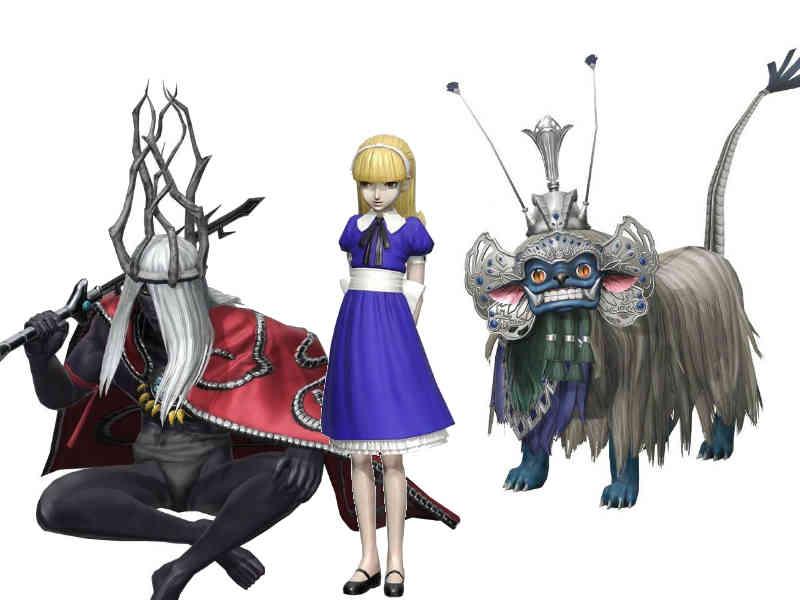 Modelos 3D de demônios do jogo Dx2 Shin Megami Tensei: Liberation