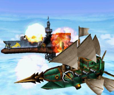 Batalha de airships em Skies of Arcadia