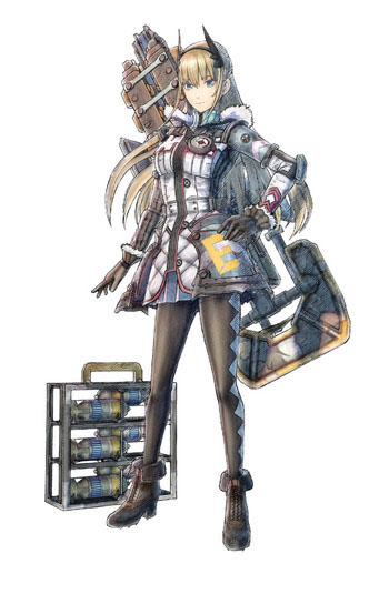 Arte da personagem Riley Miller de Valkyria Chronicles 4