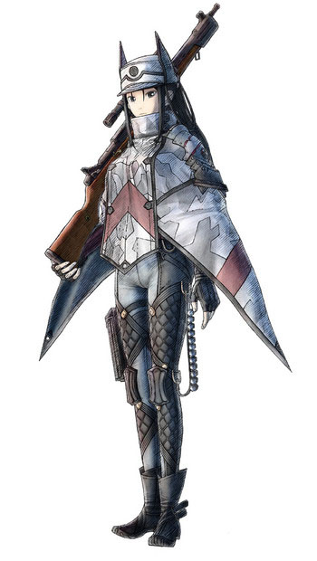 Arte da personagem Kai Schulen de Valkyria Chronicles 4