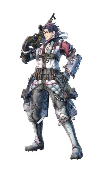 Arte do personagem Raz de Valkyria Chronicles 4