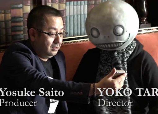 Imagem de Yosuke Saito e Yoko Taro.