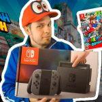 Imagem de Abdallah com Nintendo Switch