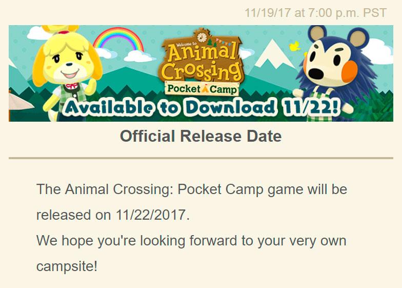 Animal Crossing: Pocket Camp ganha data de lançamento