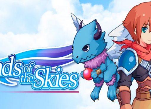 Imagem mostrando a logo e o protagonista de Bonds of the Skies