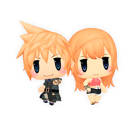 Lann e Reynn de World of Final Fantasy: Meli-Melo