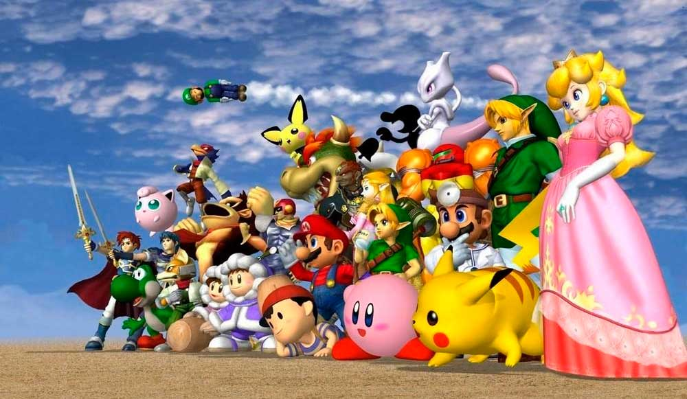 Imagem dos personagens de Super Smash Bros. Melee