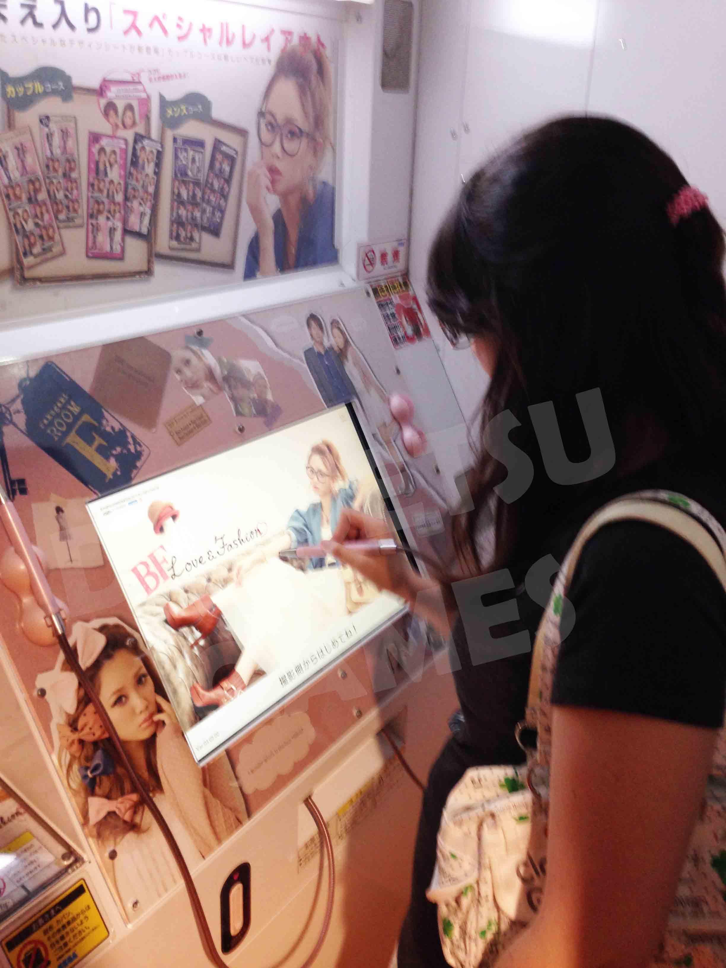 Edição de imagens em máquinas de Purikura
