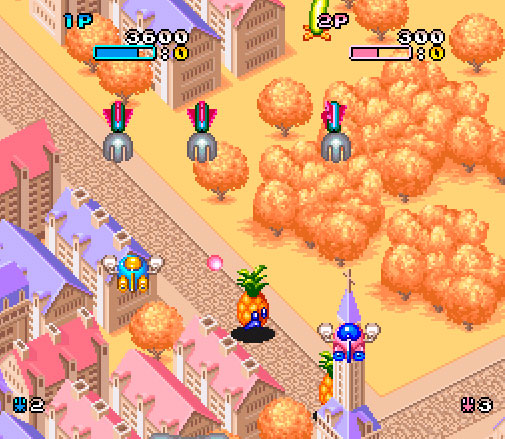 Imagem do gameplay de Pop'n TwinBee