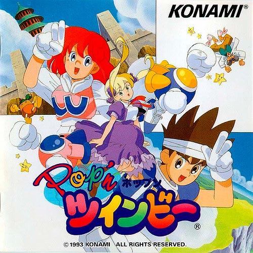 Capa japonesa do jogo Pop'n TwinBee para SNES
