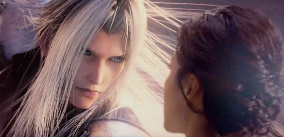 Imagem do trailer da montanha-russa de Final Fantasy