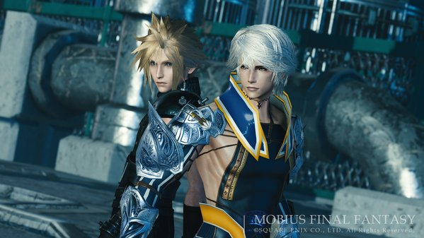 Cloud de Final Fantasy VII Remake em Mobius Final Fantasy