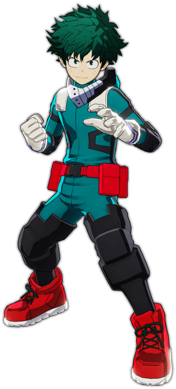 Arte do protagonista Izuku de My Hero Academia: One's Justice