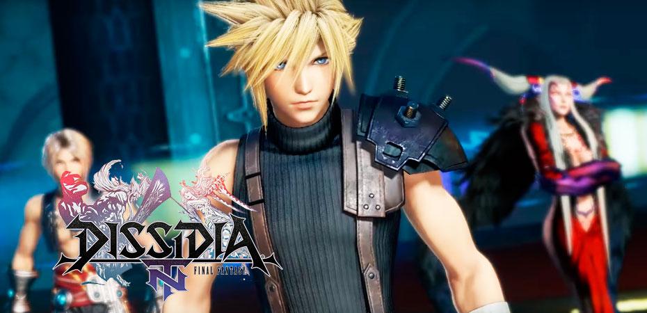 Imagem mostrando Cloud, um dos 28 personagens jogáveis de Dissidia Final Fantasy NT