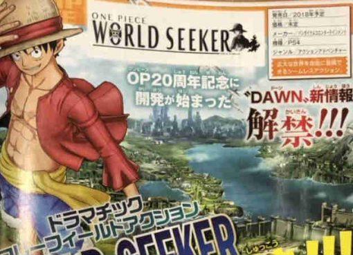 Revista Weekly Jump sobre One Piece: World Seeker
