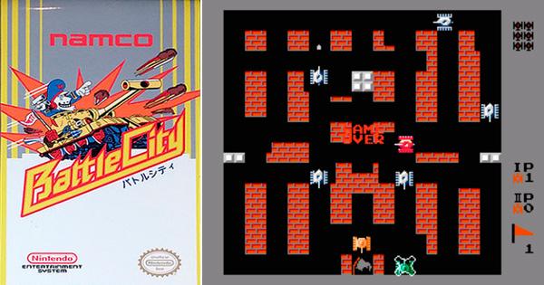 Capa e gameplay de Battle City