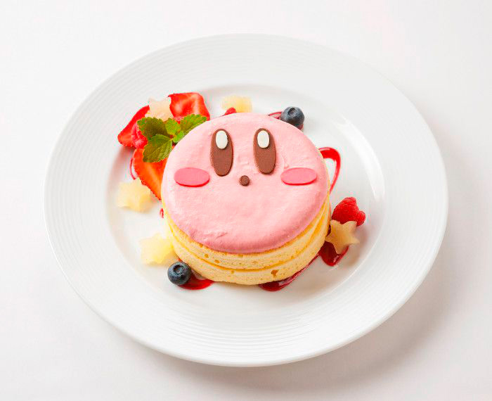 Prato do Kirby do café temático do Kirby