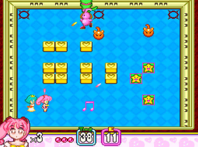 Power ups em Panic in Nakayoshi World para Super Nintendo