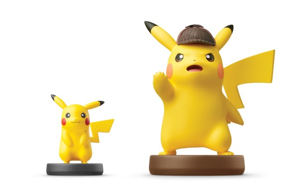 amiibo de Detective Pikachu e Pikachu normal
