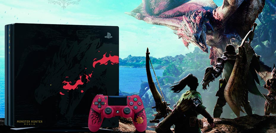 PlayStation 4 Pro Edição Limitada de Monster Hunter: World