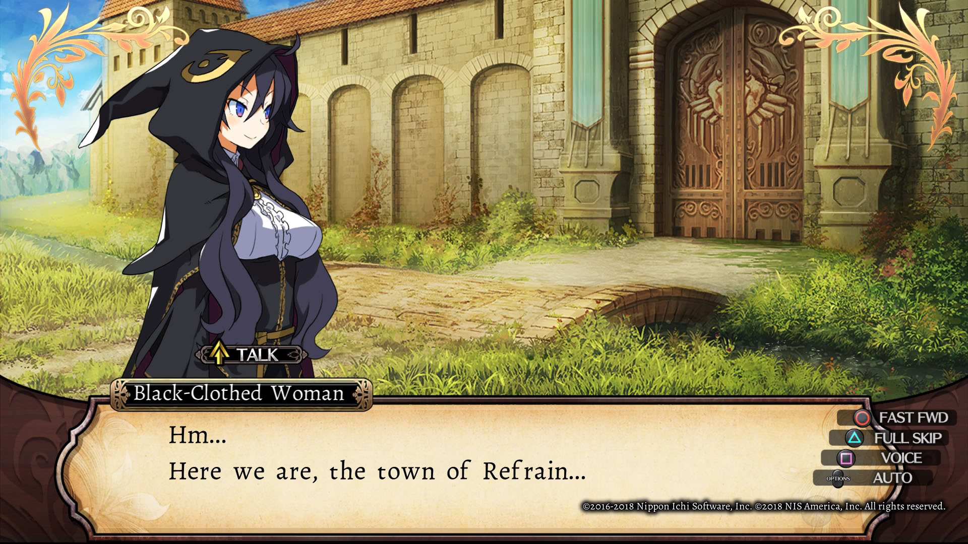 Imagem de gameplay de Labyrinth of Refrain