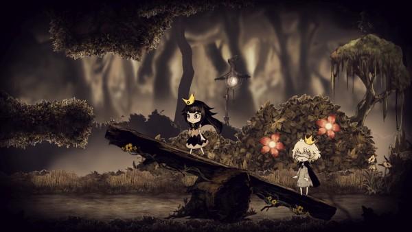 Captura de tela do jogo Usotsuki Hime to Moumoku Ouji.