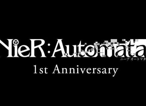 Imagem de anúncio do primeiro aniversário de NieR Automata
