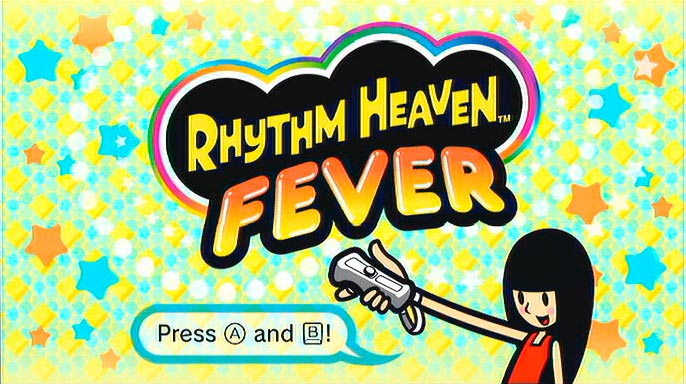Tela inicial de Rhythm Heaven Fever