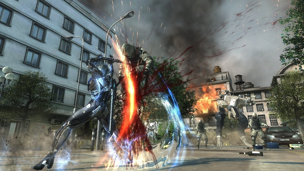 Imagem de gameplay de Metal Gear Rising: Revengeance