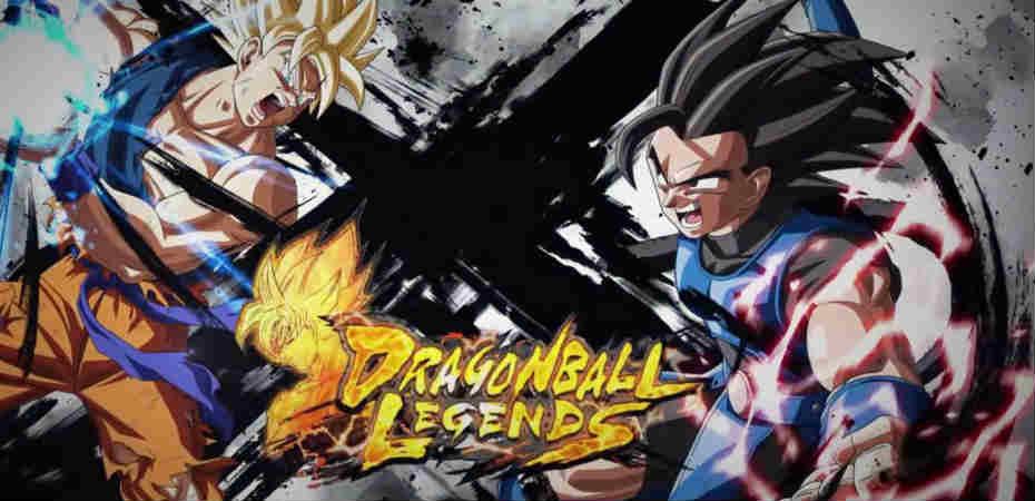 Arte de Goku e um novo personagem em Dragon Ball Legends