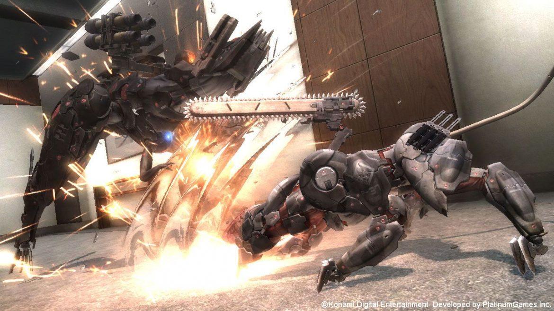 Imagem de gameplay de Blade Wolf em Metal Gear Rising: Revengeance